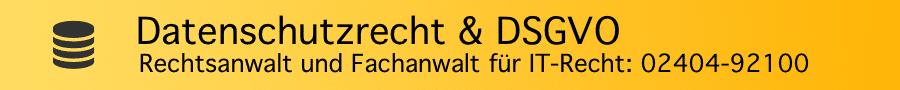 Datenschutzrecht & Datenschutzbeauftragter: Fachanwalt für IT-Recht Jens Ferner - 02404-92100